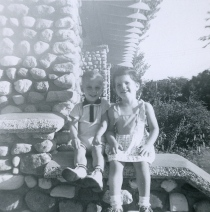 My sister Cyn and I loved playing on the front steps