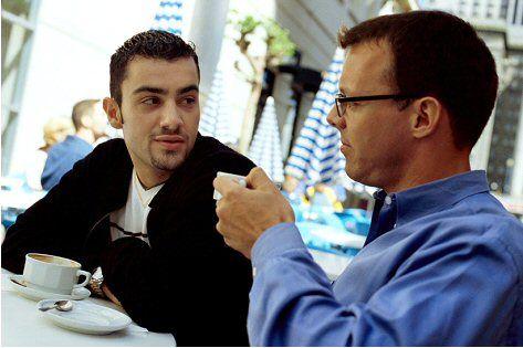 2 guys talking