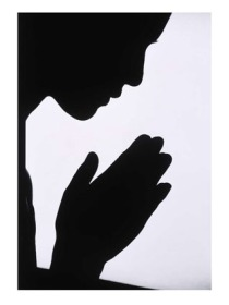 woman-praying-silhouette