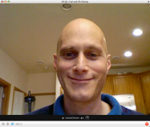 This is what my daughter sees on her laptop when we Skype