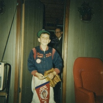 My dad and me arriving home from Game Two of the 1965 World Series