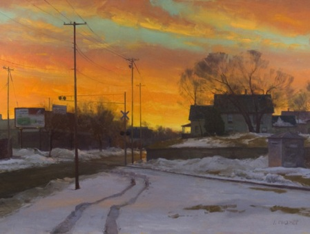 joe-paquet-painting-twilight-at-the-crossing