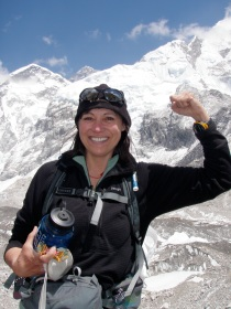 lori-schneider-approaching-base-camp-on-mount-everest