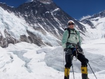Lori Schneider on Mount Everest