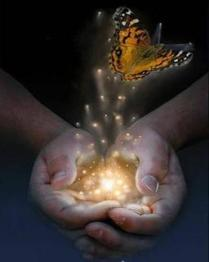 clasped-hands-holding-light-butterfly