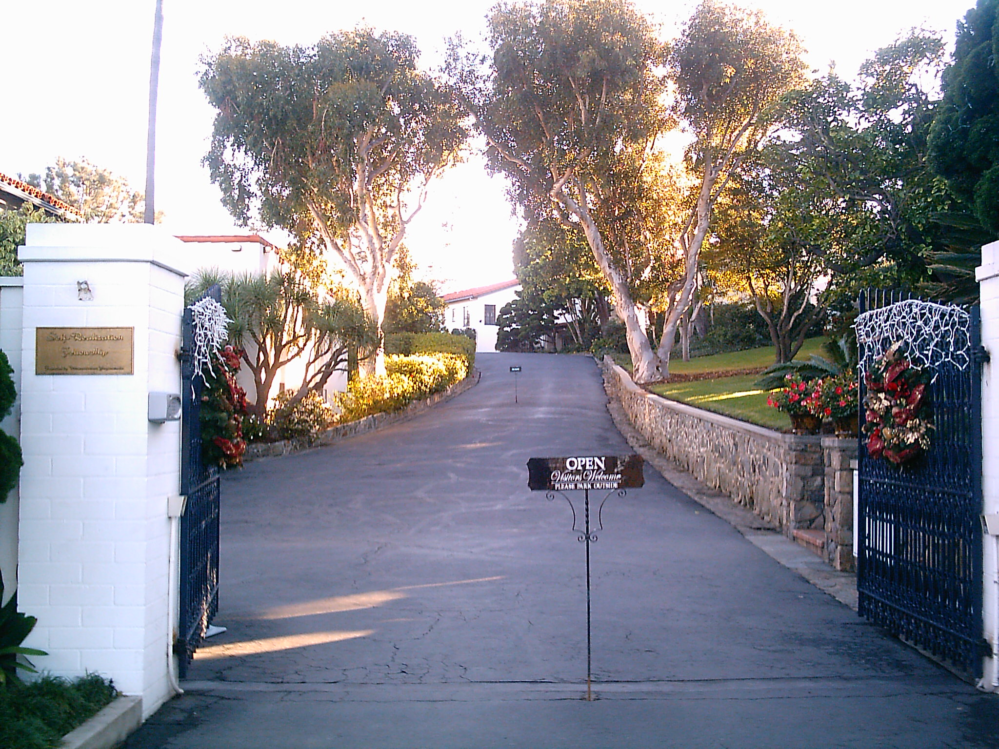 The entrance to the Self-Realization Fellowship Meditation Gardens,