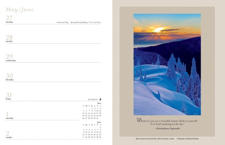snowy-hills-inner-reflections-calendar-two-page-spread