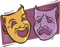 good-news-bad-news-theater-masks