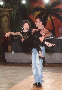 Tao Porchon-Lynch dancing with Hayk Balasanyan, her 24-year-old old teacher