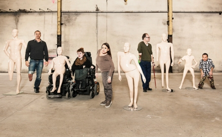 The models and their mannequins
