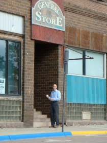 This is me at Grampo's office building on a trip back to Ortonville in September 2008
