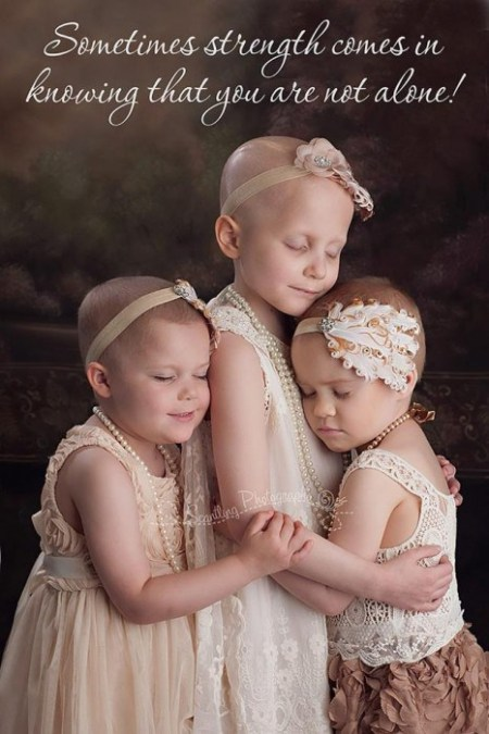 Cancer patients Rylie, Rheann and Ainsley (photo by Lora Scantling)