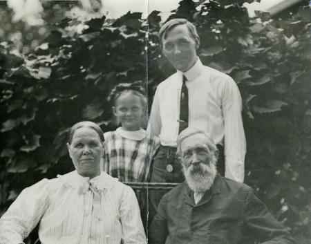 Ole and Anna Bolsta with son Charles and daughter Clara