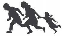 refugees-running-silhouette