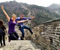 Missy and Tom on the Great Wall